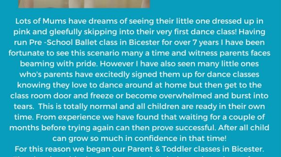 When is my child ready to start dance classes?